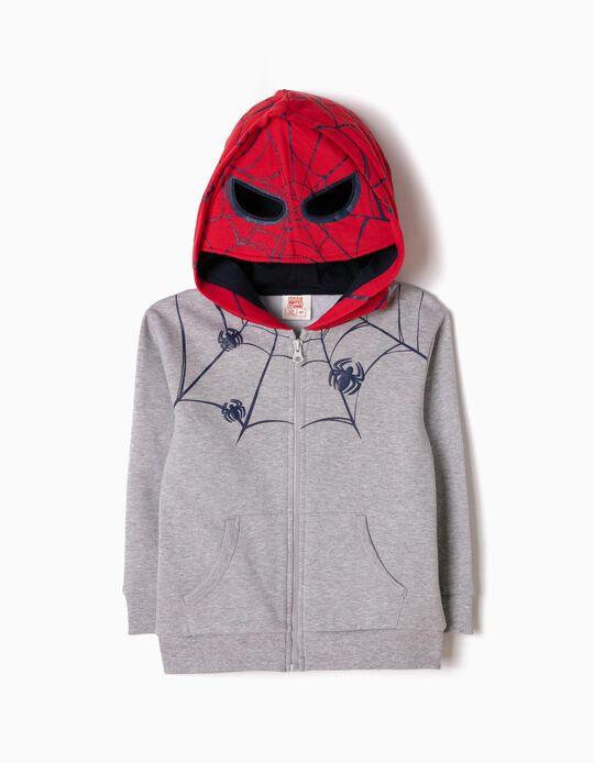 Casaco Felpa com Capuz-Máscara Spider-Man