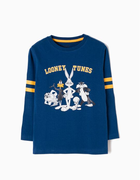 T-shirt Manga Comprida Looney Tunes Azul