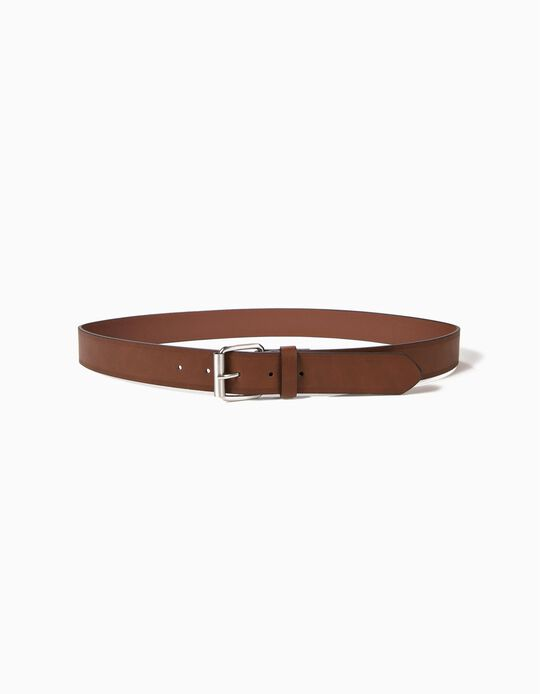 Faux Leather Belt with Trim