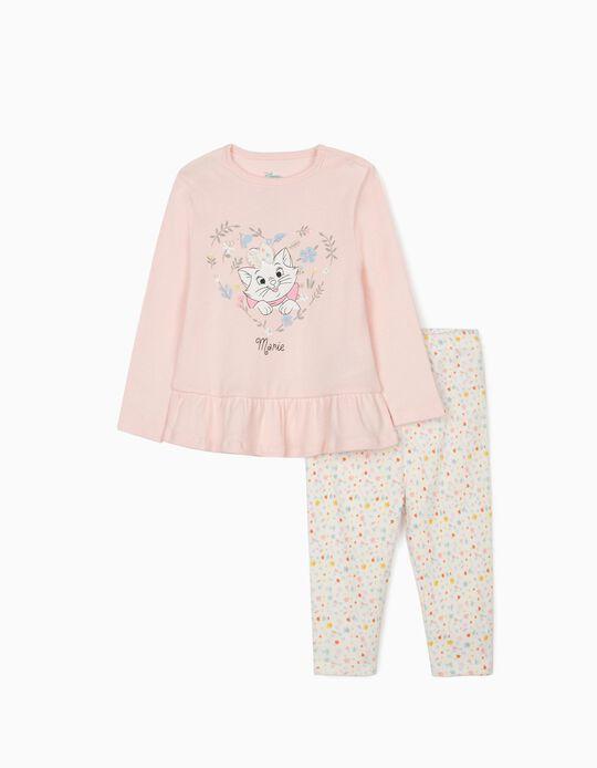 Pyjamas for Baby Girls, 'Marie', Pink/White