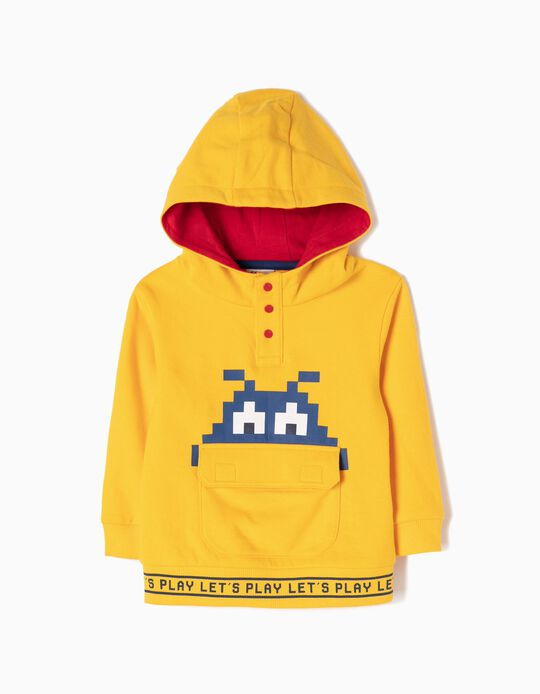 Sweatshirt com Capuz Let's Play