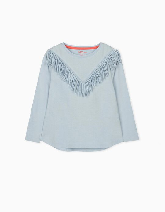 Long Sleeve Top with Fringes