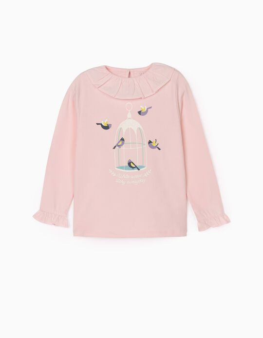 Long Sleeve T-Shirt for Girls 'New Story', Pink
