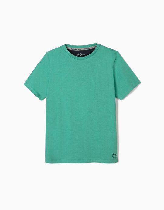 T-shirt Verde de Agodão, para Menino
