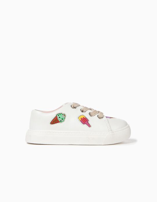 Trainers for Baby Girls 'Ice Creams', White