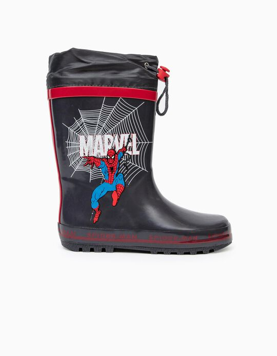 Wellies for Boys 'Spider-Man', Grey