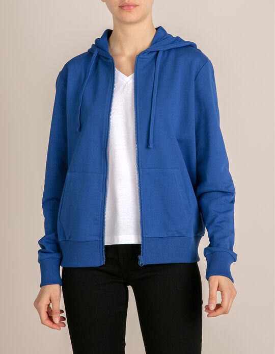 Blue Jacket with Hood