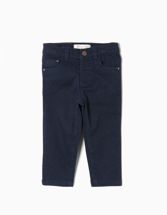Calças Sarja Azul