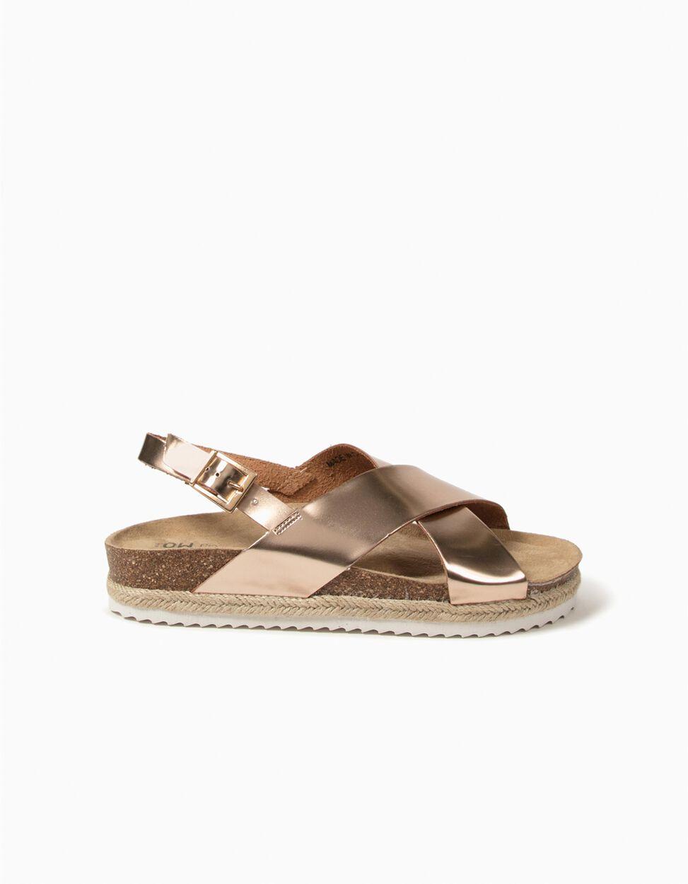 Sandálias Rosa Metalizadas