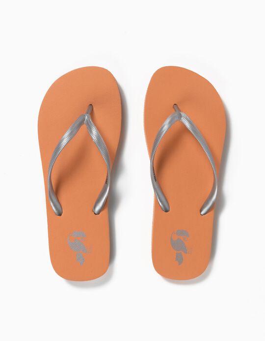 Beach Slip-Ons, Silver Straps