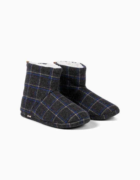 Plaid Slipper Boots