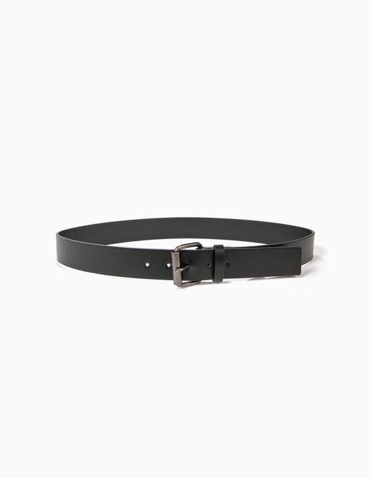 Belt in Plain Faux Leather