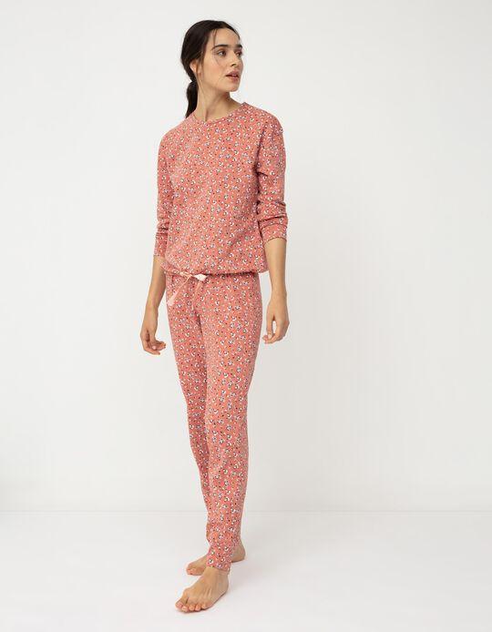 Floral Pyjamas for Women, Salmon