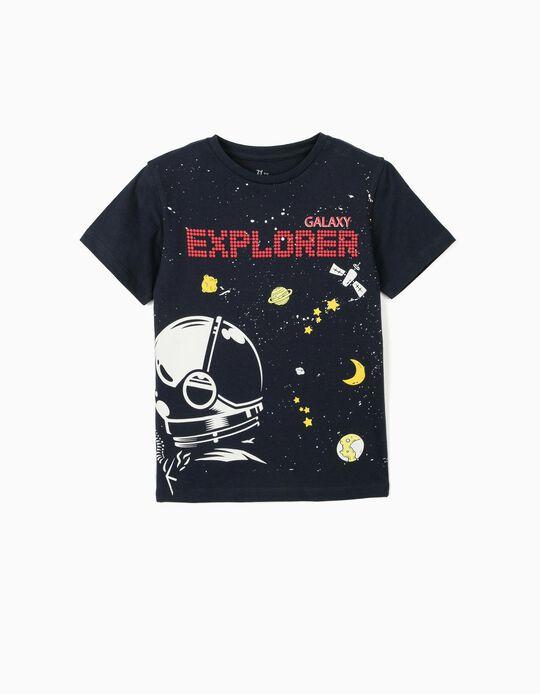 T-shirt for Boys, 'Galaxy Explorer', Dark Blue