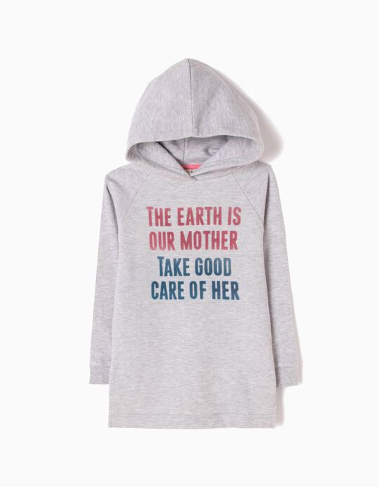Fleece Hooded Dress, Mother Earth