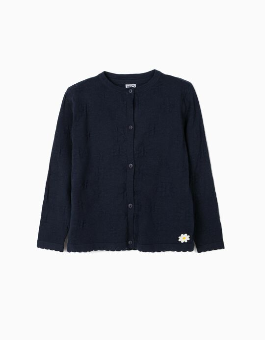 Dark Blue Cardigan for Girls