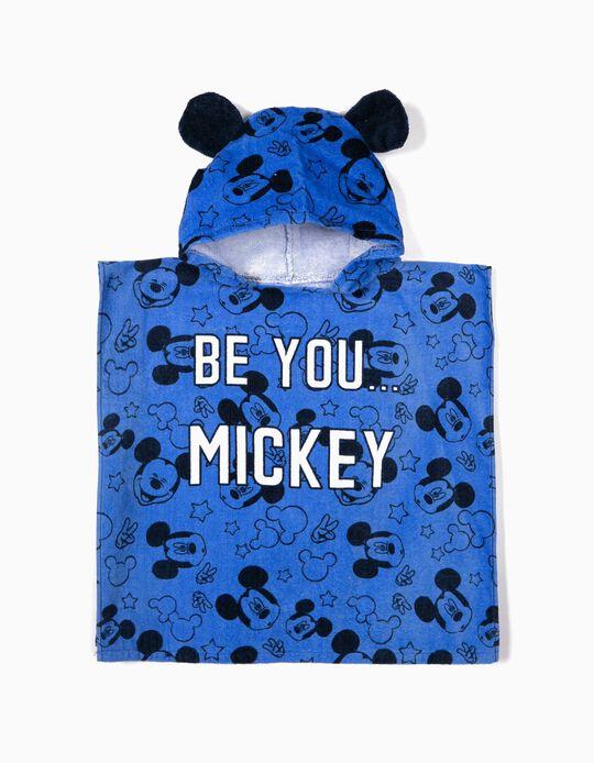 Poncho de Praia para Bebé Menino 'Mickey', Azul
