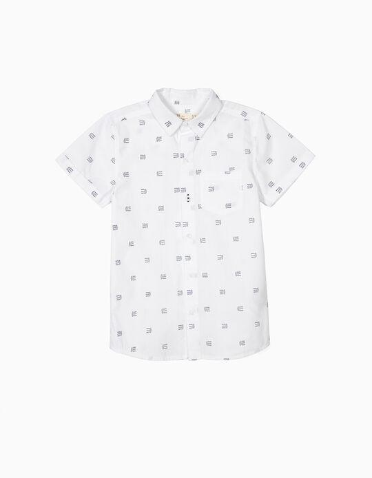 Short-sleeve Shirt for Boys 'Surf, Sleep, Repeat', White