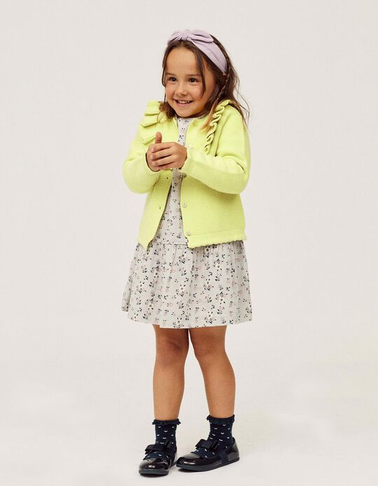 Cardigan for Girls, Lime Green