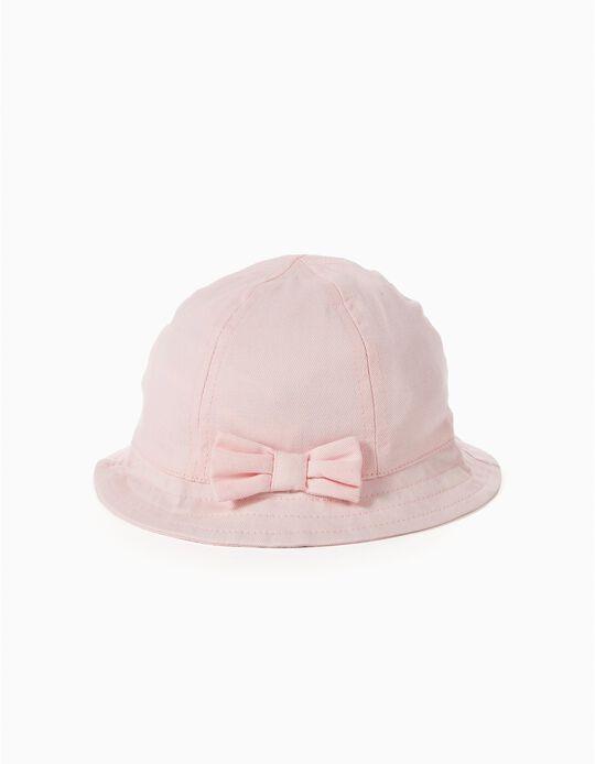 Chapéu Laço Rosa