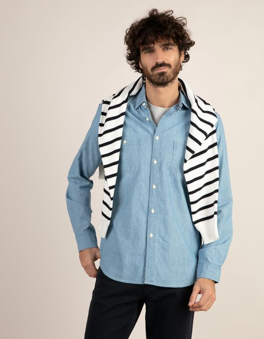Camisa Chambray regular fit