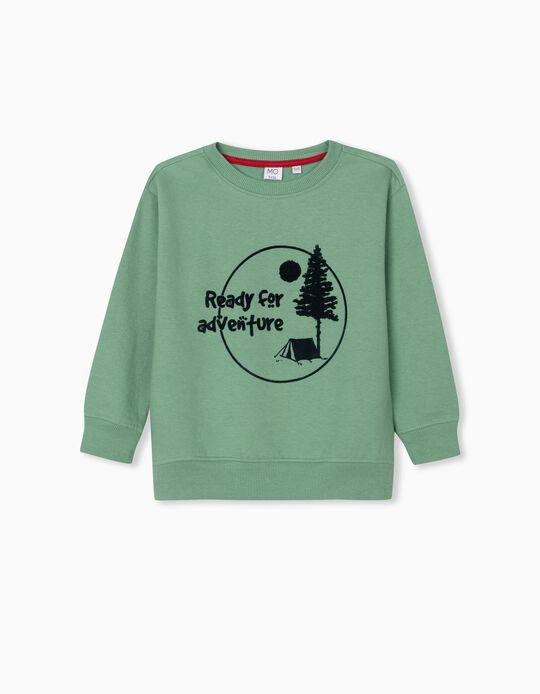 Ready for Adventure' Sweatshirt, Boys, Green