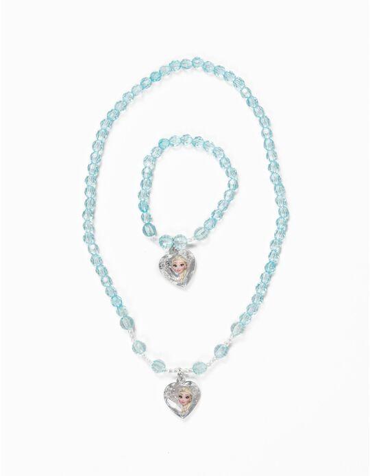 Conjunto colar e pulseira Frozen