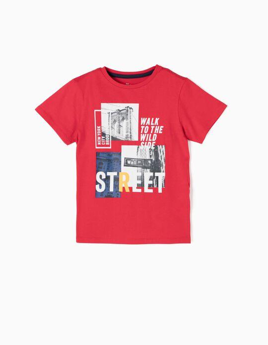 T-shirt NYC Vermelha