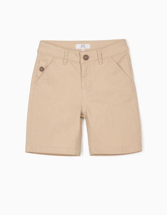 Chino Shorts for Boys, Beige