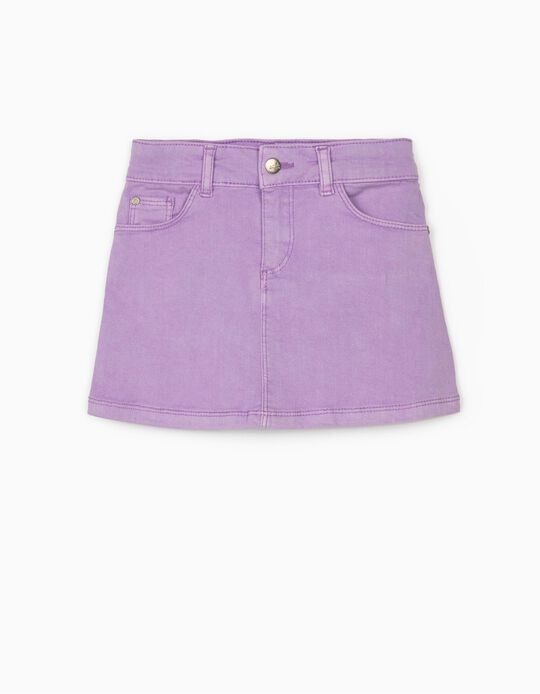 Twill Skirt for Girls 'Cosmic World', Lilac