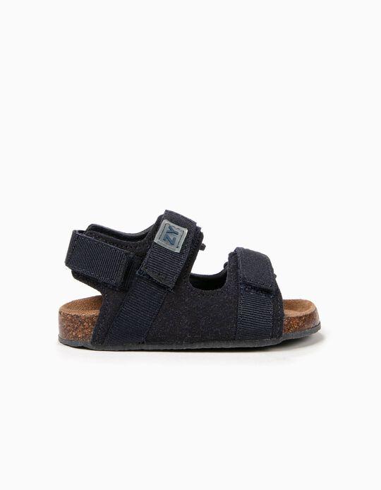 Sandálias para Bebé Menino com Velcro, Azul Escuro