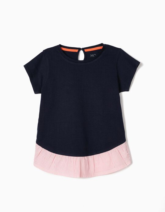 2-in-1 Effect T-shirt for Baby Girls