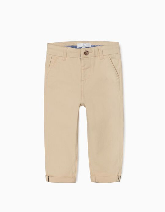 Chinos for Baby Boys, Beige