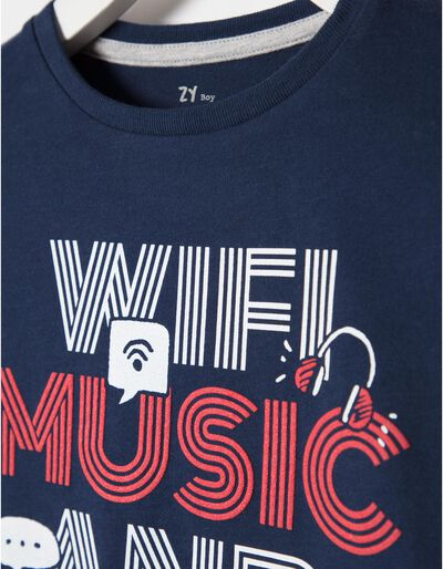 T-shirt Manga Comprida Music