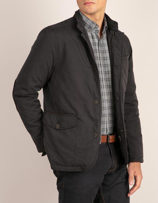 Casual slim fit shirt in grey tartan