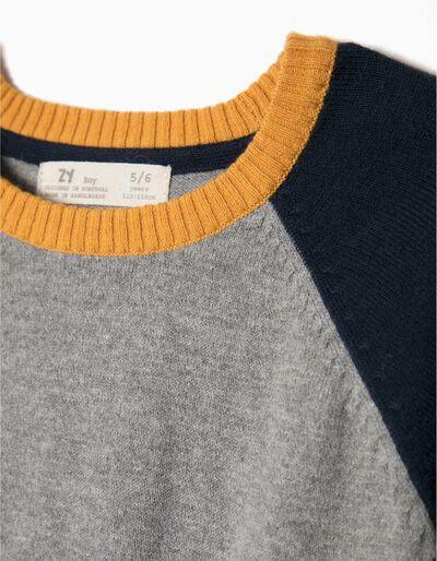 Camisola Lã Bicolor Amarelo
