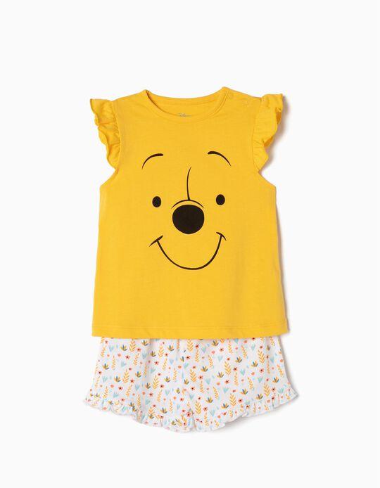 Pijama para Bebé Menina 'Winnie The Pooh', Amarelo e Branco