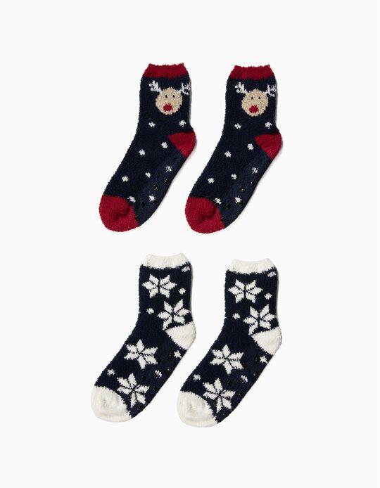 Pack de 2 pares de meias natalícias