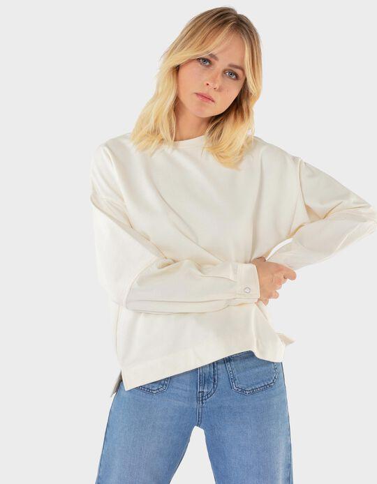 Sweatshirt com Punhos, para Mulher