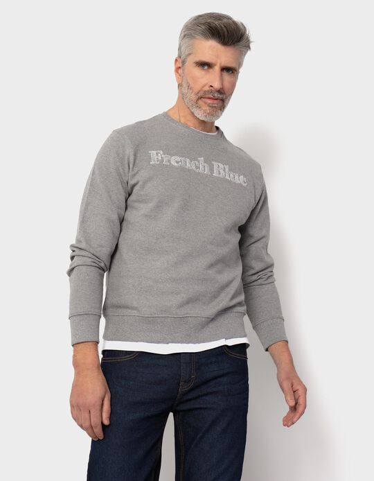 Textured Carded Sweatshirt, for Men