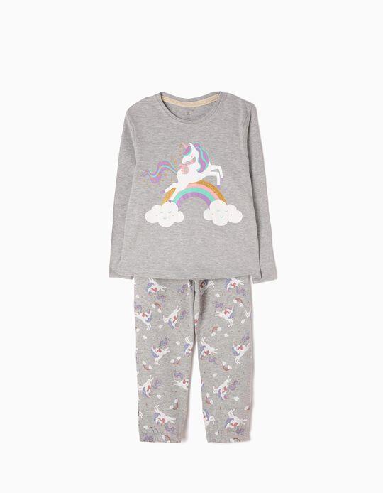 Pijama Manga Comprida e Calças Unicorn