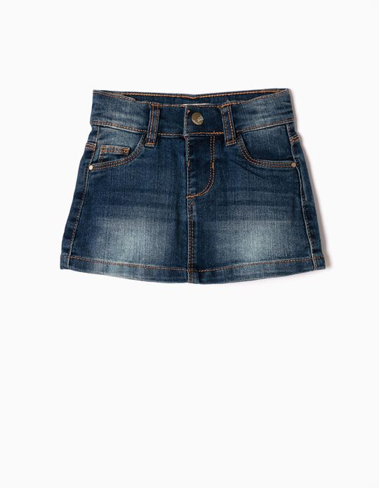 Denim Skirt for Baby Girls, Dark Blue
