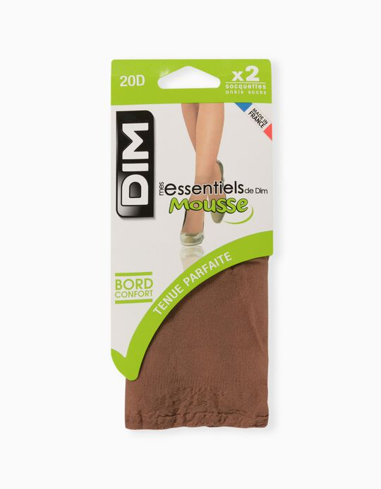 2 Pairs of DIM Knee Highs, Opaque