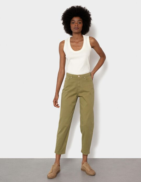 Mum Fit Trousers, Organic Cotton