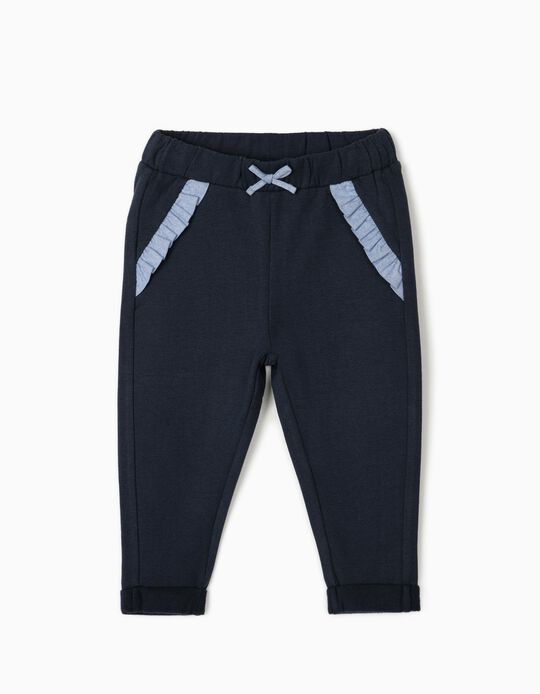 Joggers for Baby Girls, Dark Blue