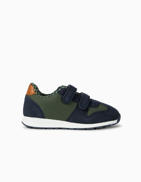 Combined Trainers for Boys 'ZY', Blue/Green