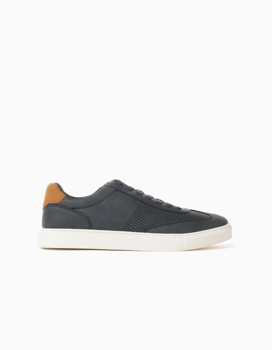 Trainers in Synthetic Leather, Men