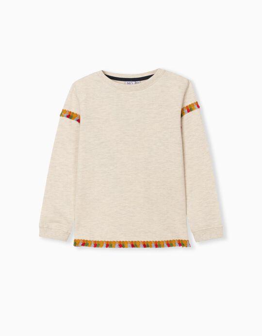 Sweatshirt with Fringes, Baby Girls