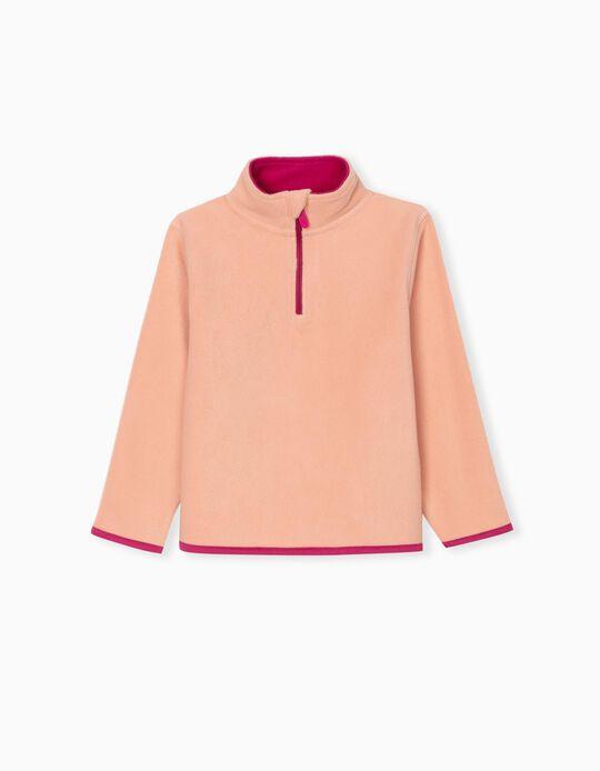 Polar Fleece Sweatshirt for Kids, Coral