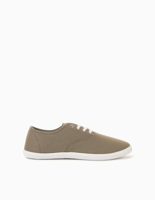 Canvas Trainers for Men, Green